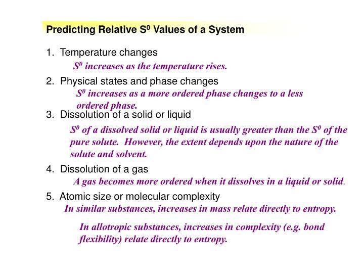 Predicting Relative S