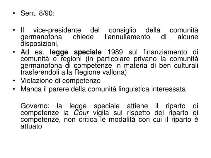 Sent. 8/90:
