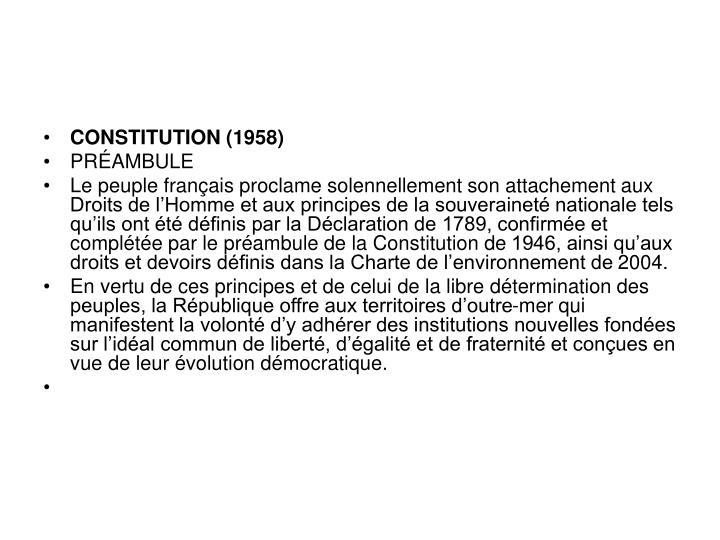 CONSTITUTION (1958)
