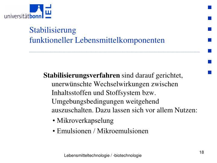 Stabilisierung