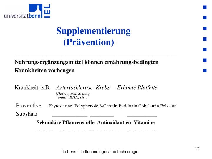 Supplementierung