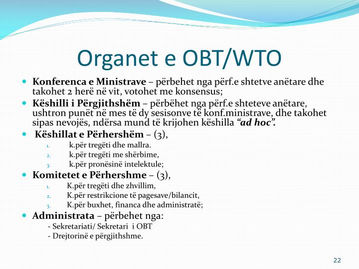 Organet e OBT/WTO