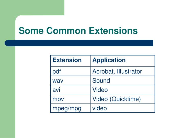 Some Common Extensions