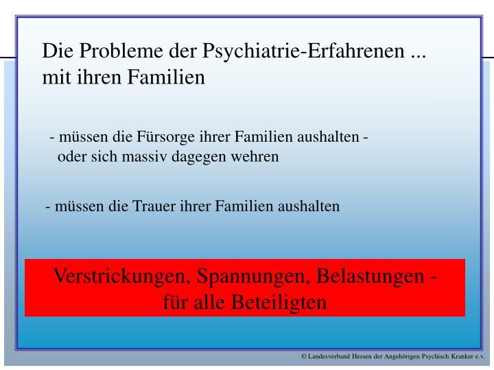 Die Probleme der Psychiatrie-Erfahrenen ...