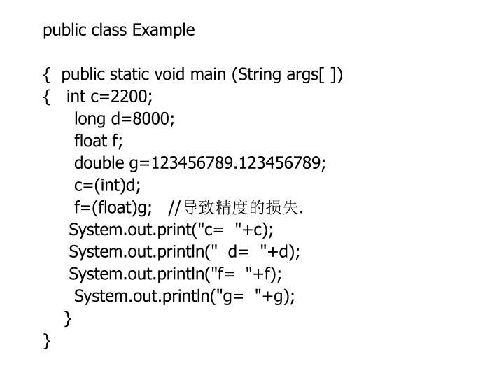 public class Example