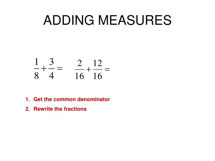 ADDING MEASURES