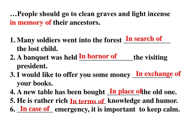 …People should go to clean graves and light incense