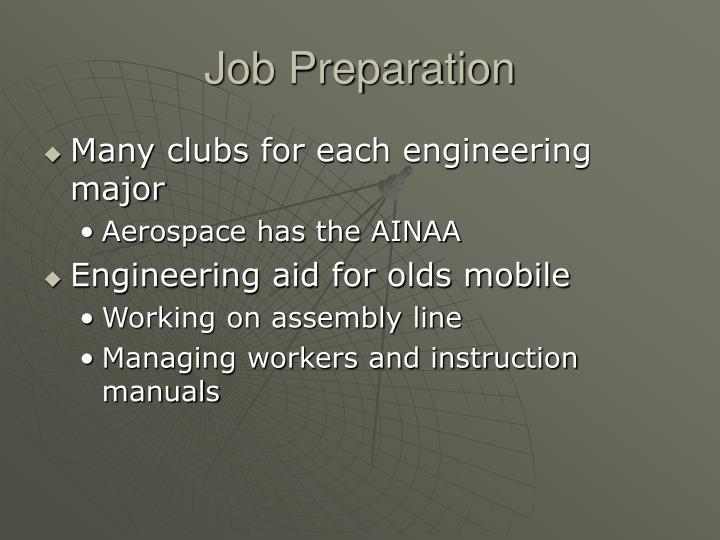 Job Preparation
