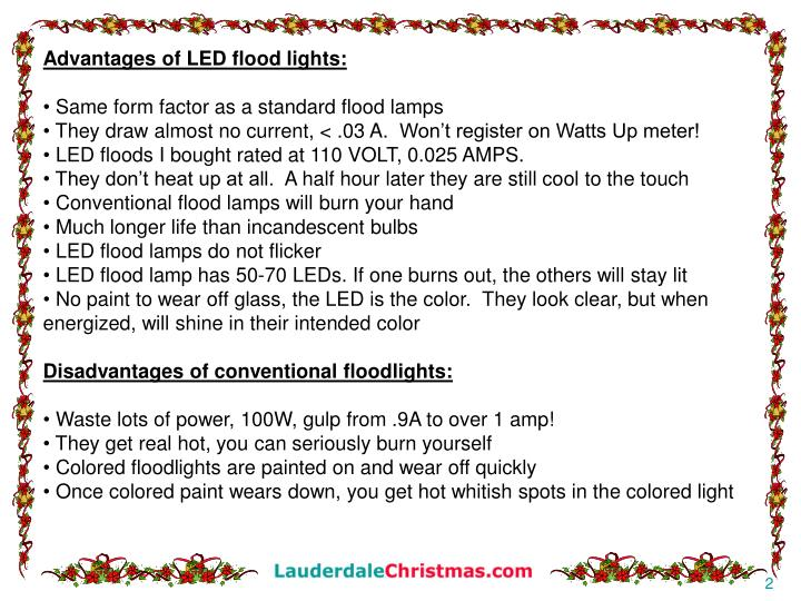 Advantages of LED flood lights: