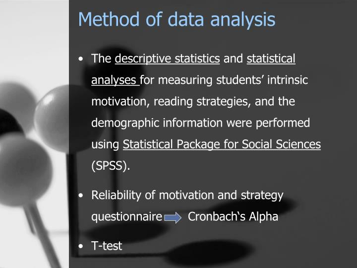 Method of data analysis