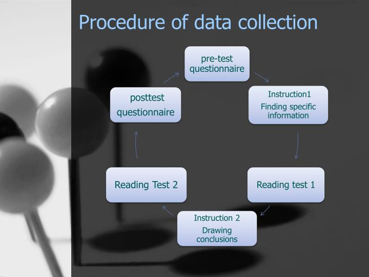 Procedure of data collection
