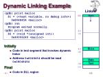 dynamic linking example
