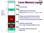 linux memory layout