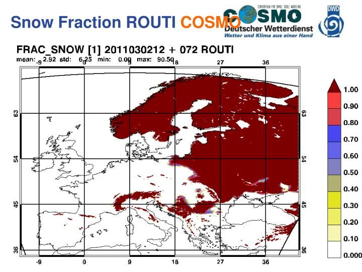 Snow Fraction ROUTI