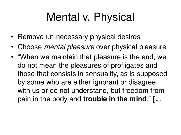 Mental v. Physical