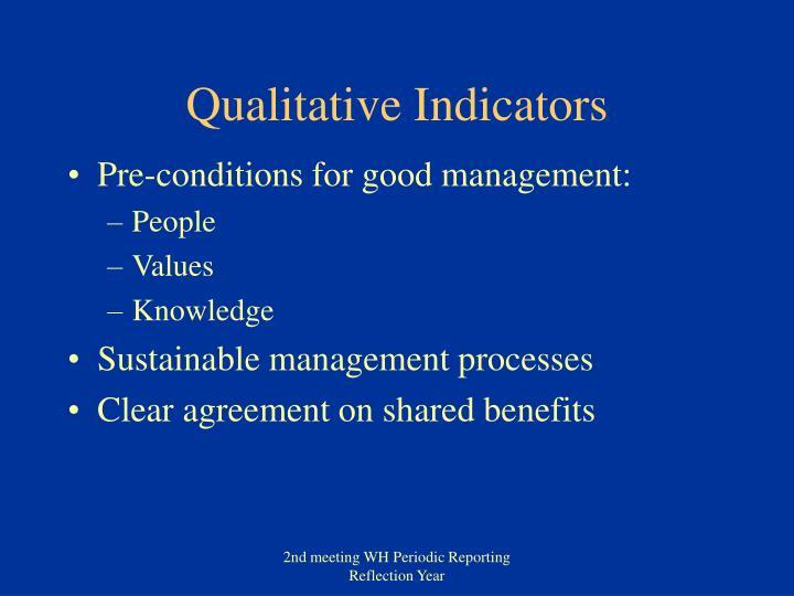 Qualitative Indicators