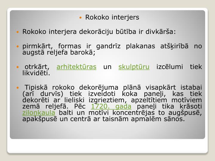 Rokoko interjers