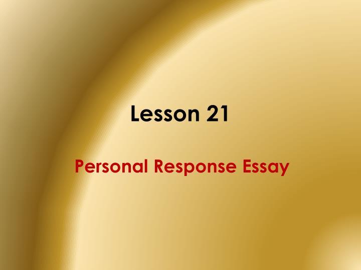 Lesson 21