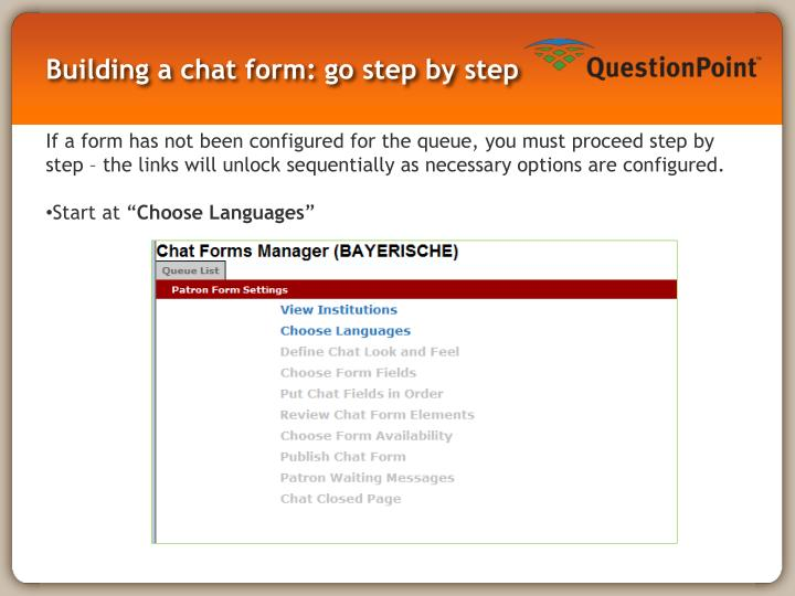 Building a chat form: go step by step