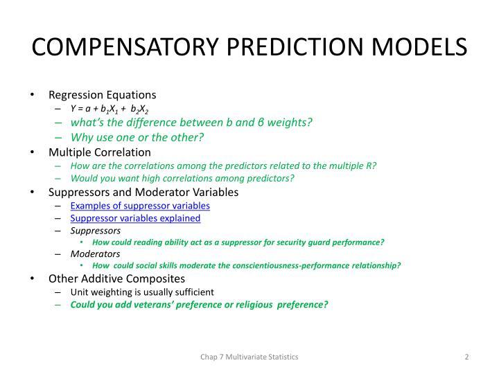 COMPENSATORY PREDICTION MODELS