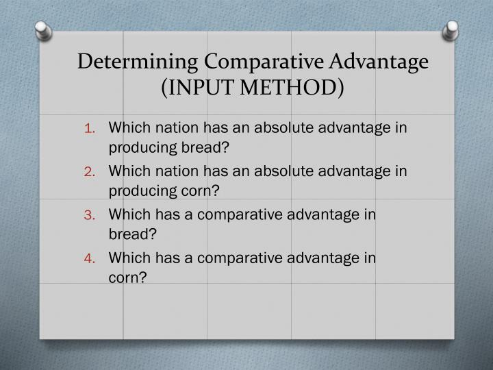 Determining Comparative Advantage
