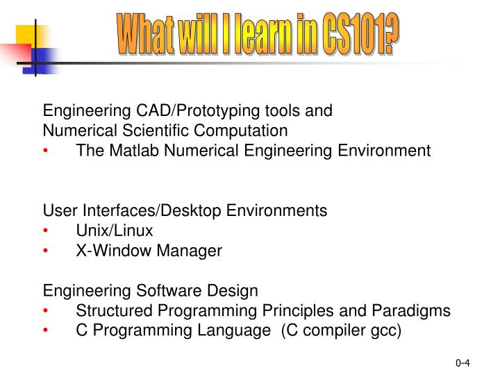 What will I learn in CS101?