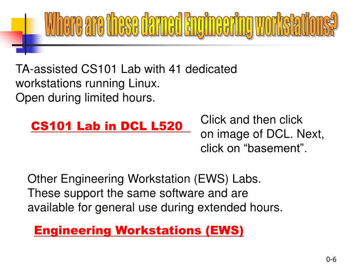 Where are these darned Engineering workstations?