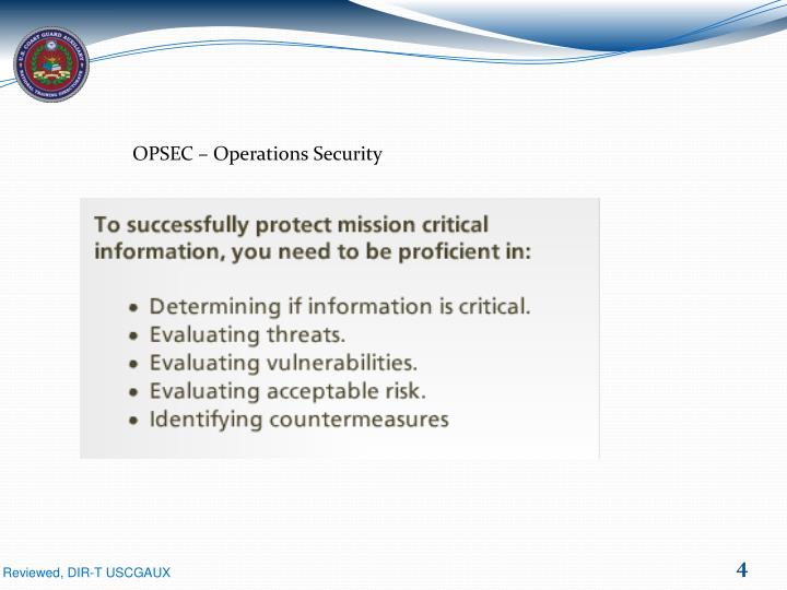 OPSEC – Operations Security