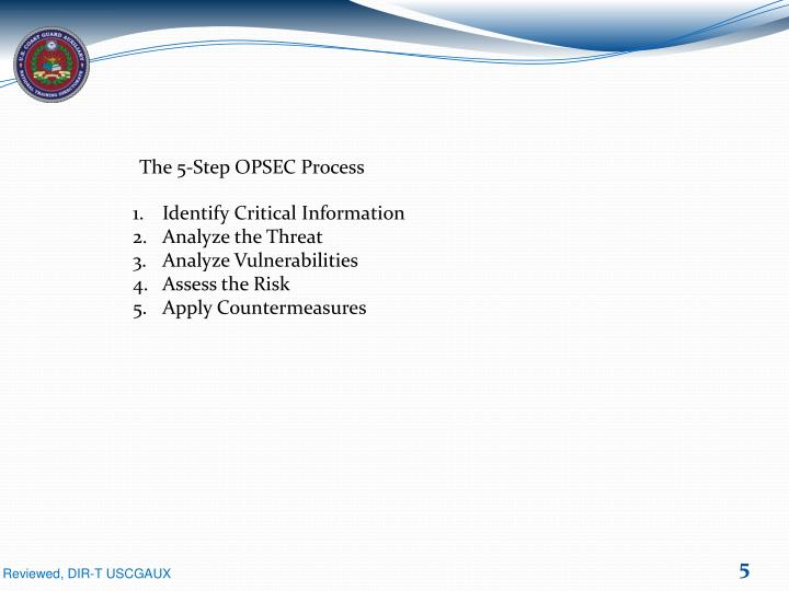 The 5-Step OPSEC Process