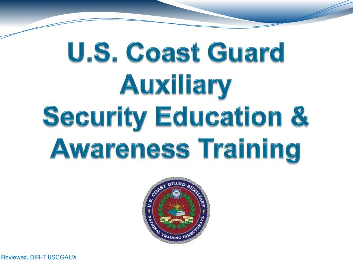 U s coast guard auxiliary security education awareness training