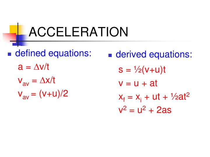 defined equations: