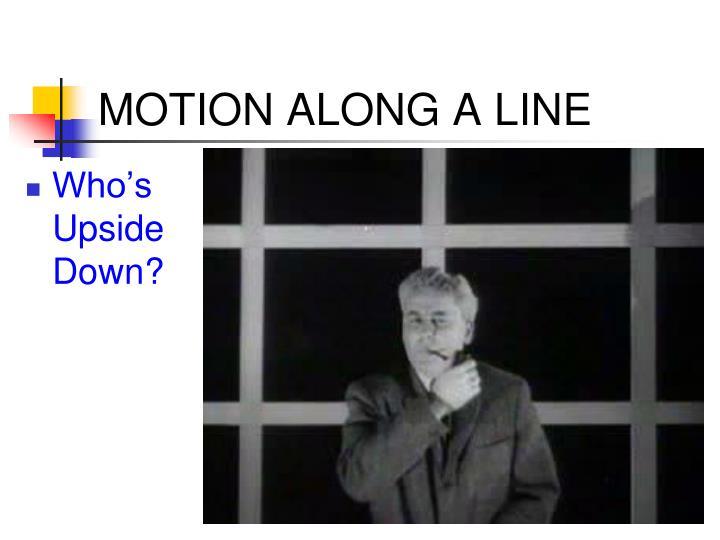 MOTION ALONG A LINE