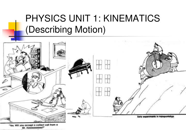 Physics unit 1 kinematics describing motion