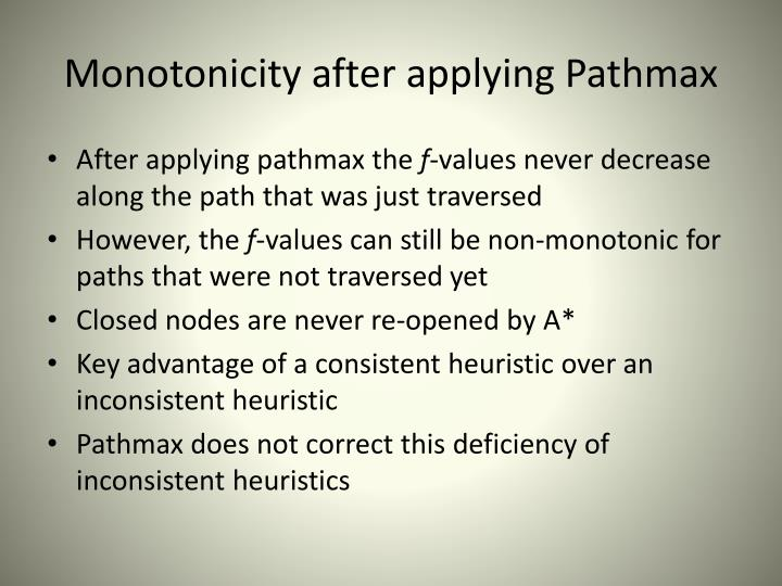 Monotonicity after applying Pathmax