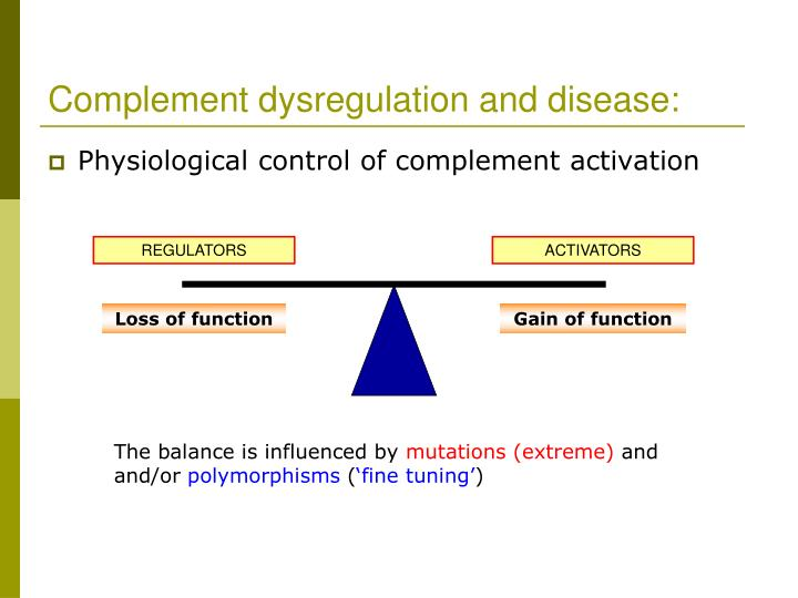 Complement dysregulation and disease: