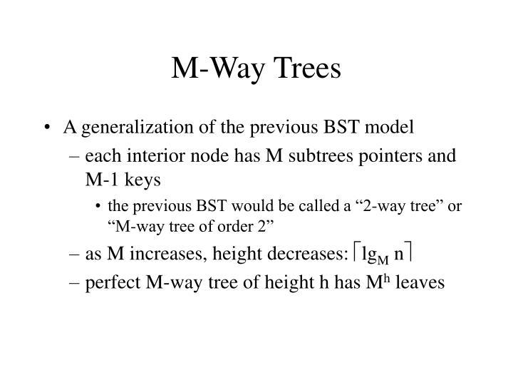 M-Way Trees