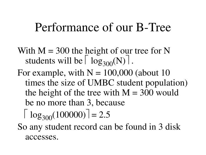 Performance of our B-Tree