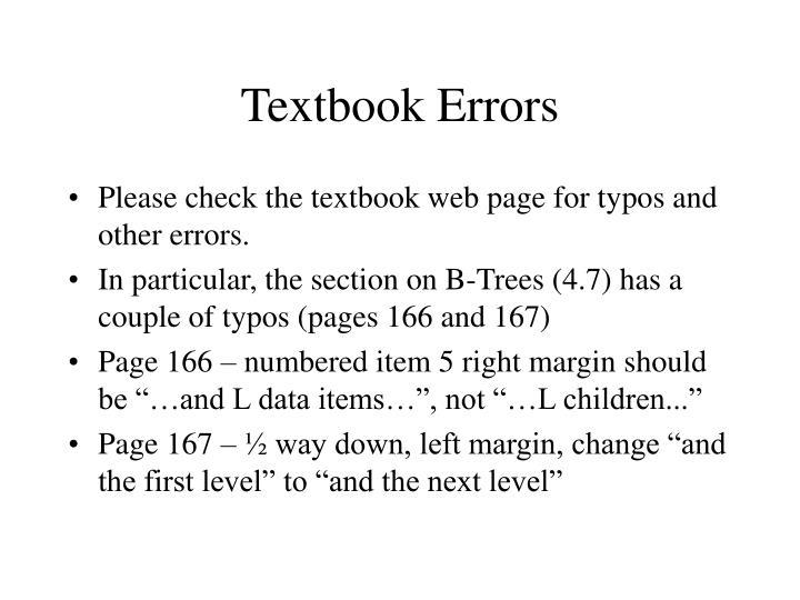 Textbook Errors