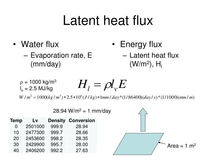 Water flux