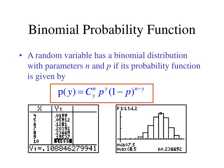 Binomial Probability Function