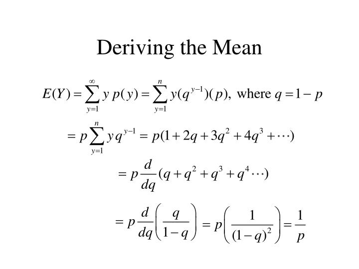 Deriving the Mean