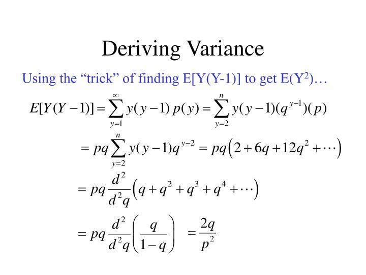 Deriving Variance