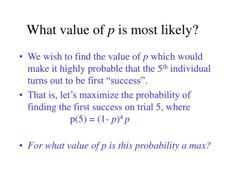 What value of