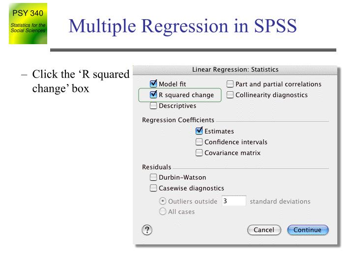 Multiple Regression in SPSS