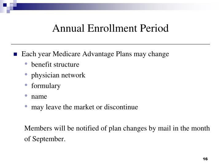 Annual Enrollment Period