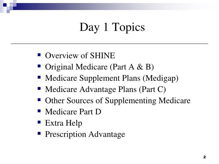 Day 1 Topics