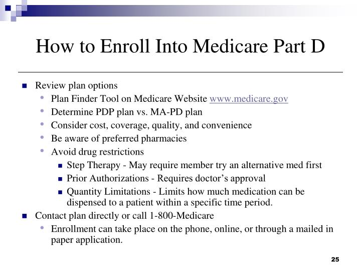 How to Enroll Into Medicare Part D