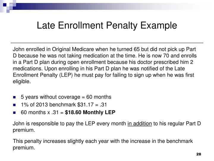 Late Enrollment Penalty Example