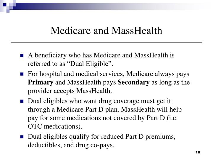 Medicare and MassHealth