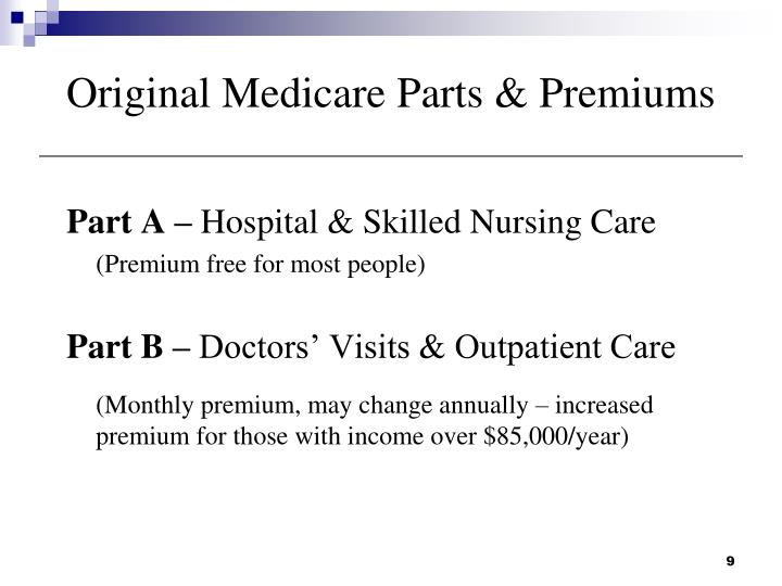 Original Medicare Parts & Premiums
